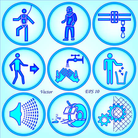 Safety Signs Stock Vector - 18404849