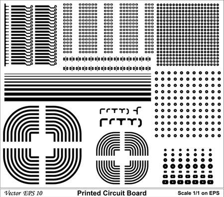 Drawing Printed circuit board of standard size for electronic circuit Stock Vector - 18454297