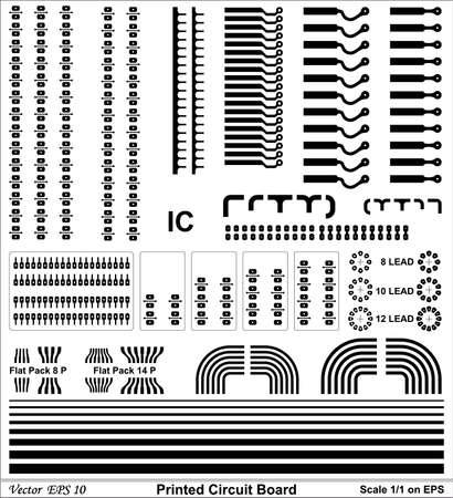 printed circuit board: Carte � circuits imprim�s dessin de taille standard pour circuit �lectronique