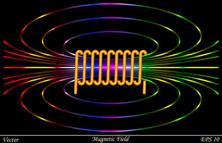 Magnetic Field Stock Illustratie