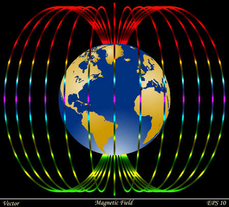 magnetic north: Magnetic Field  Illustration