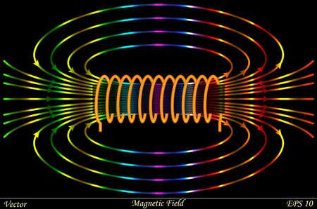 Campo magnético Ilustración de vector