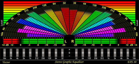Colorful Graphic Equalizer Display Vector