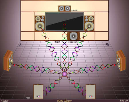 home theater: Home Theater  Illustration