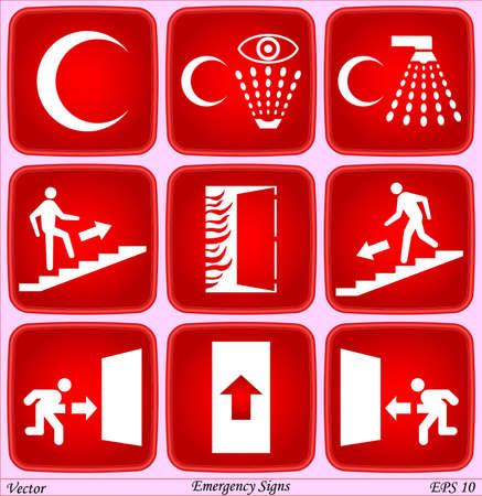 medical shower: Emergency Signs