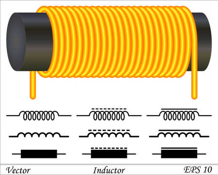 inductor coil Stock Illustratie