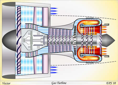Gas Turbine Stock Illustratie