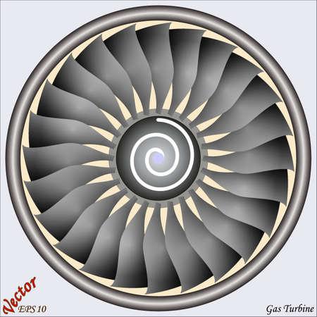 Turbina de gas Ilustración de vector