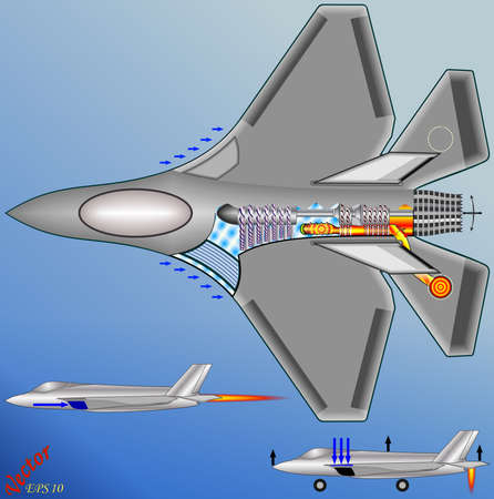 Jump Jet - Vertical takeoff and landing Vector