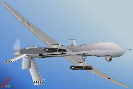 coast guard: EE.UU. predetor Drone Vectores