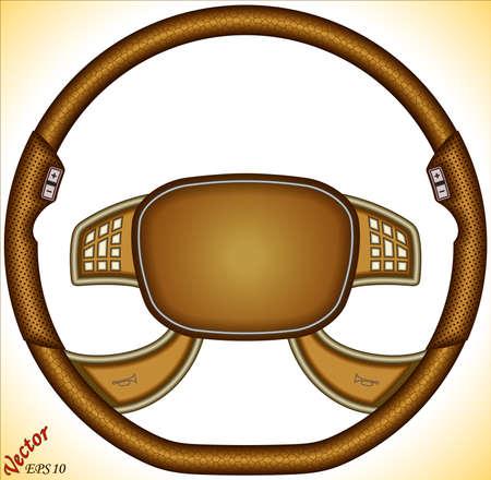 steering wheel: Steering Wheel of a car with air bag