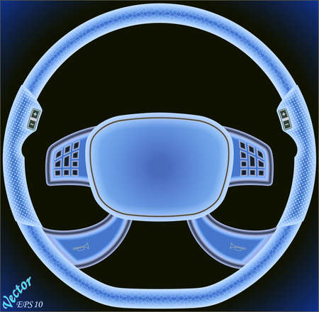 airbag: Steering Wheel of a car with air bag