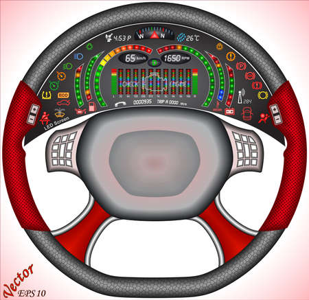 rotations: Digital Car Dashboard Illustration