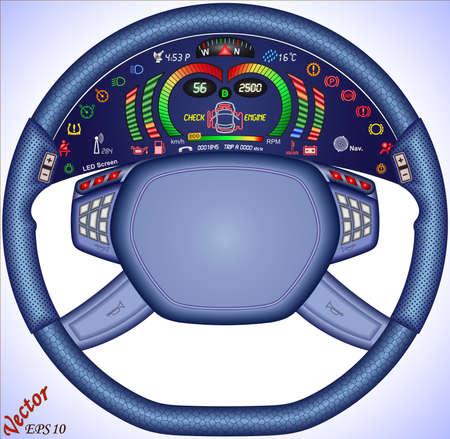 rotations: Digital Car Dashboard Illustration