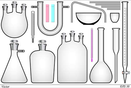 evaporating: Icons for chemical lab