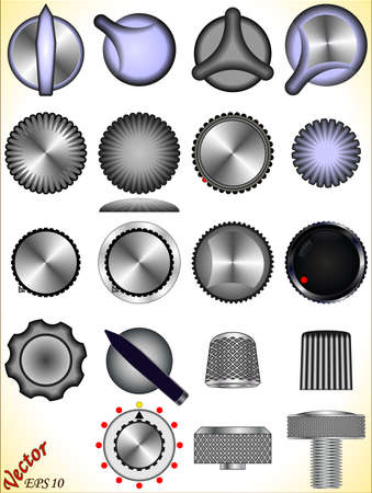 A set of knobs Vector
