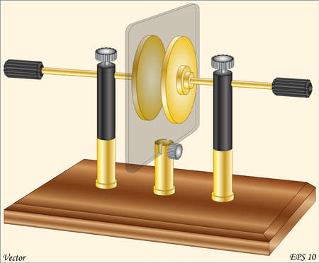 capacitor: Capacitor Lab - Physics Lab Equipment Instruments Illustration