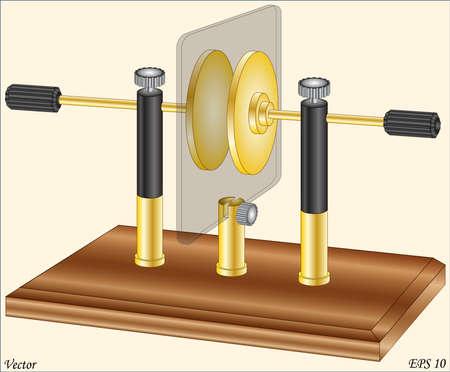Capacitor Lab - Physics Lab Equipment Instruments Illusztráció