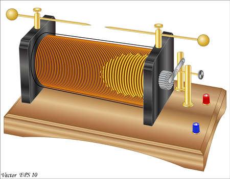 bobina: Ruhmkorff bobina de inducci�n Vectores