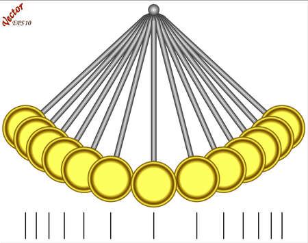 reloj de pendulo: Péndulo oscilante