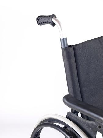 paralysis: Wheelchair studio shot isolated on white background  Stock Photo