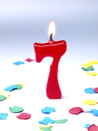 Birthday candle showing  photo