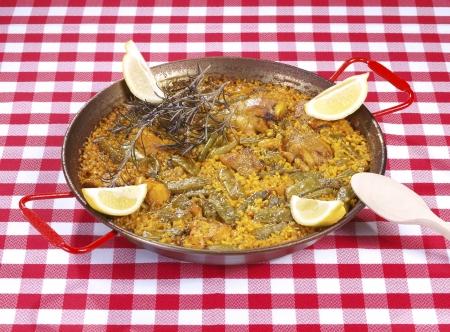 lima bean: Paella.  Traditional Valencian Dish.