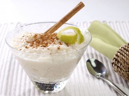 Rice Pudding – Arroz con leche. Spanish version of the rice pudding. Made with milk, rice,  sugar, and cinnamon.