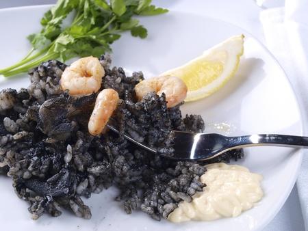 black rice: Arroz Negro Black Rice   Traditional Valencian Dish