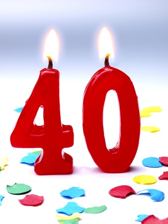 40: Birthday candles showing Nr  40 Stock Photo