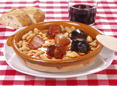 Fabada Asturiana. Traditional Spanish meal native from Asturias Region