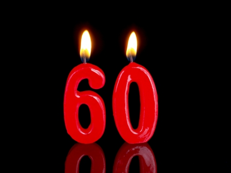 Birthday candles showing Nr. 60