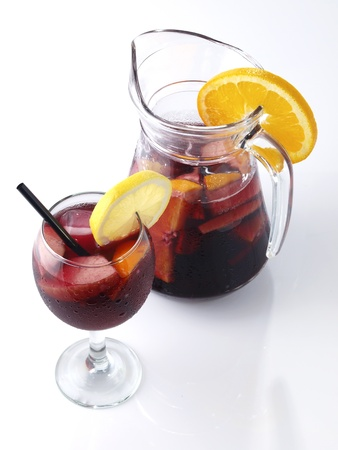 Sangria is a typical Spanish and Portuguese wine punch 版權商用圖片