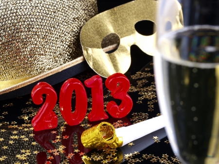 new year s eve: New Year s Eve 2013  Stock Photo