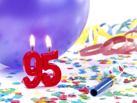 Birthday candles showing Nr. 95 photo