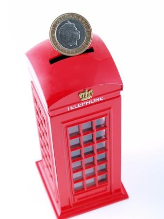 British telephone box. photo