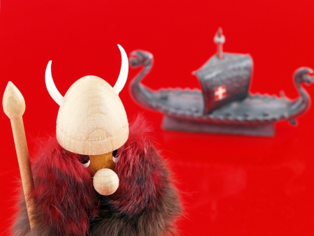 middle ages boat: Viking and Drakkar toys, souvenirs from Skandinavia  Stock Photo