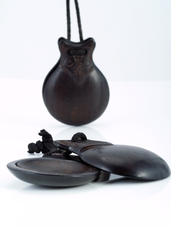 fandango: Spanish Castanets. Musical instrument typical from Spain.