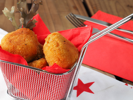 Irish Moss Croquettes  Croquettes made with potato and irish moss seaweed. A nutritious vegan starter.