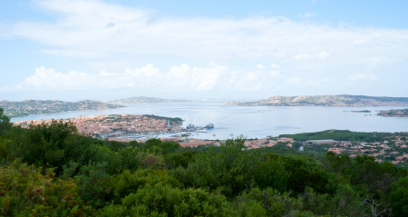 the maddalena archipelago is a group of islands in the straits of bonifacio between corsica and north-eastern sardinia, italy photo