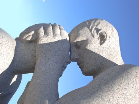 the sculpture of this couple in love located in gustav vigeland Banco de Imagens - 19097436