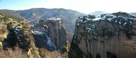 surviving: One of the six surviving monasteries of Meteora in Greece