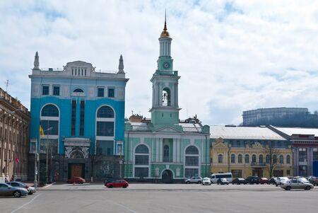 Kontraktova square is located in the historic Podil district of Kiev, the capital of Ukraine