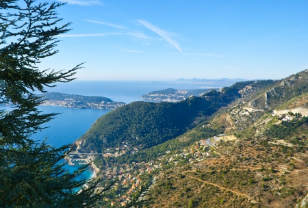 alps are great and different in each region and look beautiful snowbound or covered by green trees, eze, france photo