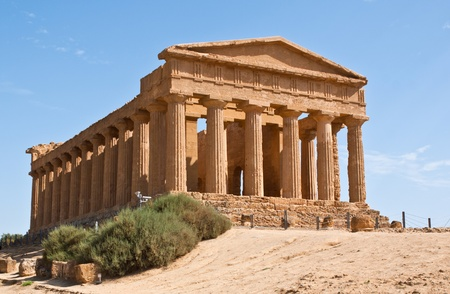 concordia: The temple of Concordia is one of the most beautiful examples of antique architecture, Agrigento, Sicily, Italy Stock Photo
