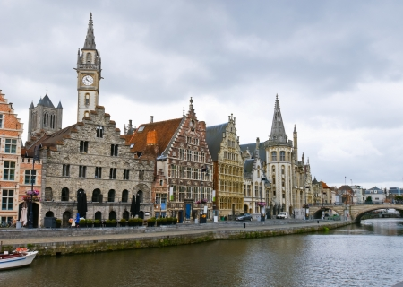 lys: The riverside of Lys is one of the most scenic places in Ghent