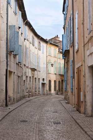 The street of medieval town of Tarascon, located in Provence, France. photo