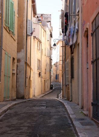 if you want to feel calm in a big city try to find lonely old street, Marseille, France photo