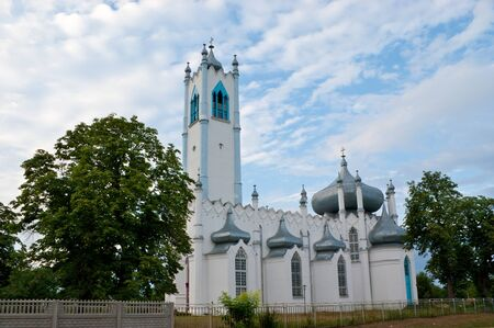 moresque: The church was built in mix of eastern and gothic styles, Moshny village, Ukraine.