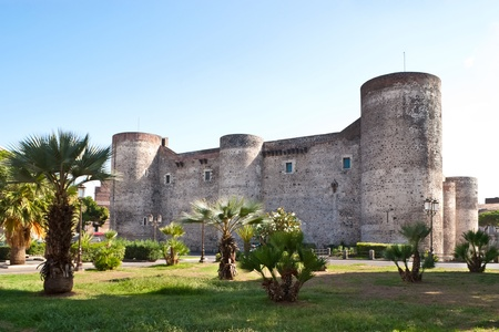 Catania, Italy - October, 1, 2012: The Castello Ursino is one of the landmarks of the city and here locates  Catania Civico Museum and a gallery of local art. Redactioneel